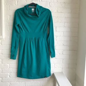 The North Face Teal long sleeve hoodie Dress Small